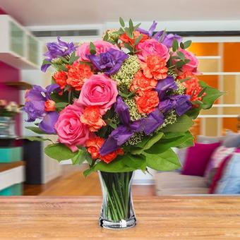 Obfitość lata: róże, goździki i eustemy