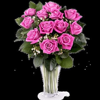 Pink Secrets: 12 Pink Roses