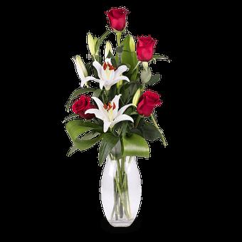 Ein Perfektes Paar: Rosen und Lilien