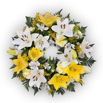 Loving Memory Lemon Wreath