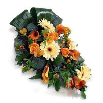 Composition Funéraire : Fleurs de Saison