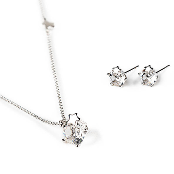 'Classical perfection': pendant and earrings