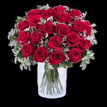 Reina de Corazones: 20 Rosas Rojas