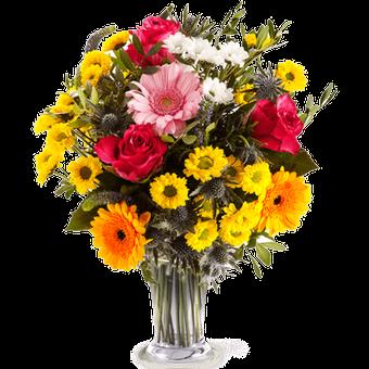 Confía en ti: Rosas y Gerberas