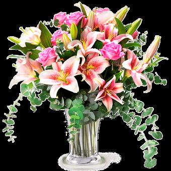 Subtelna Świeżość: Róże i Lilie