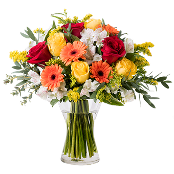Floral Energy: Mixed Orange Flowers