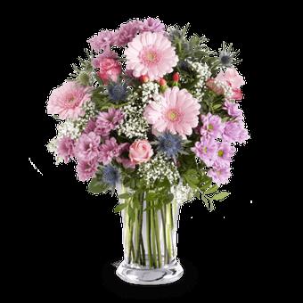 Bukiet Dziękuję za wszystko: róże i gerbery