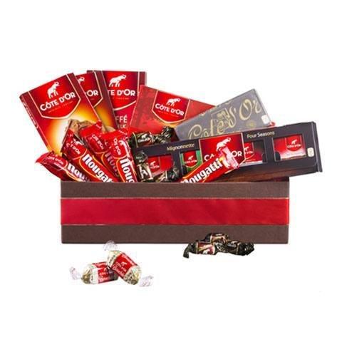 Exklusiver Schokoladenkorb