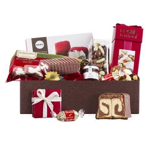 Auswahl von Schokolade und Süßigkeiten