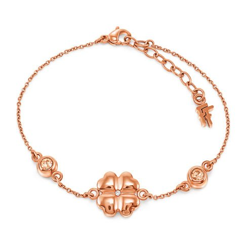 Rose Gold Clover Bracelet
