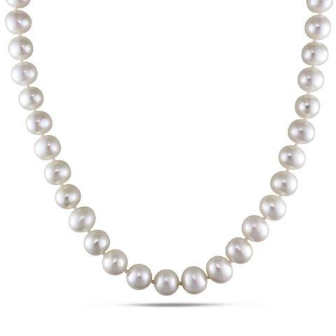 Halskette mit Perlen aus Süßwasser