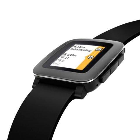 Smartwatch Pebble Time in Schwarz