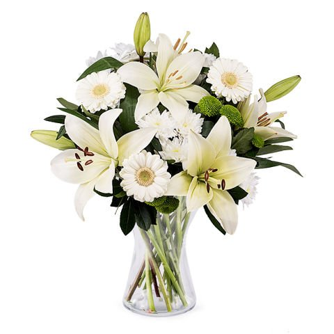 Comodità ed eleganza: fiori bianchi e foulard