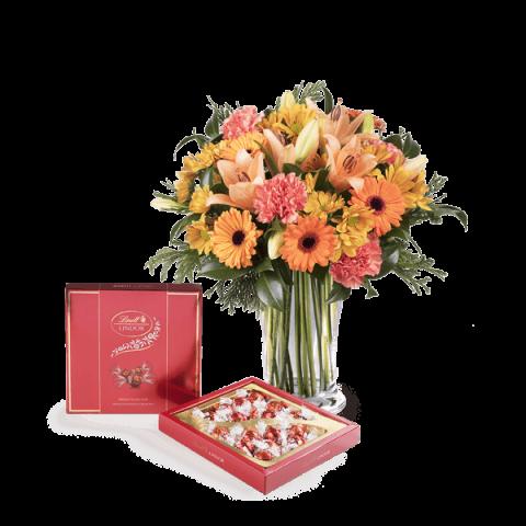 Sweet Birthday: Lilies and Gerberas