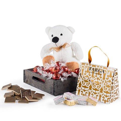 Pralinen und Teddybär