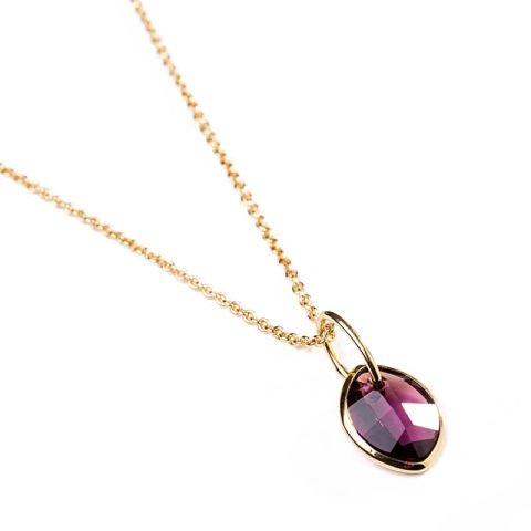 Collier avec pendentif en cristal couleur améthyste de Swarovski