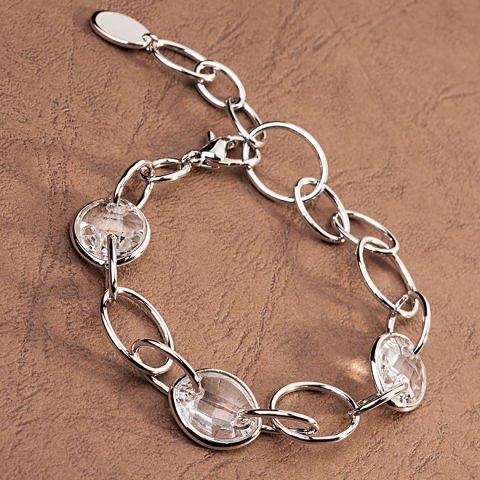 Bracelet with transparent Swarovski crystals