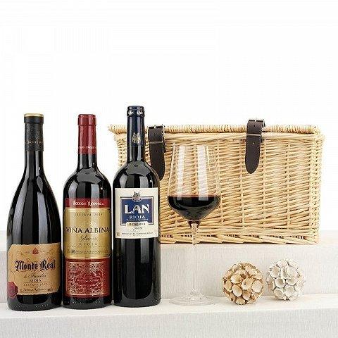 Cesto per gli amanti del vino