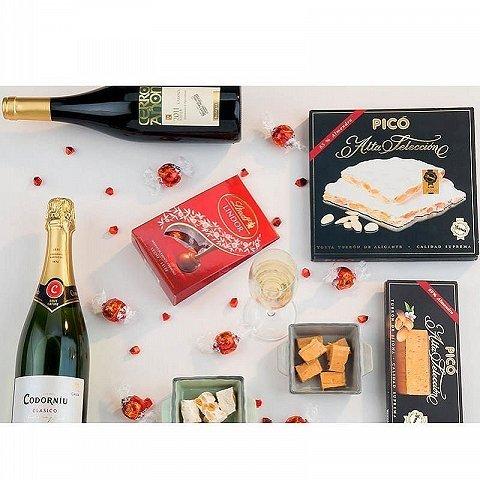 Chocolate and Wine Christmas Basket
