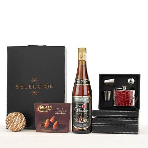 Geschenkkorb Rum & Schoko