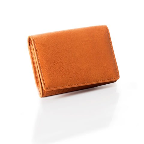 Small brown card holder