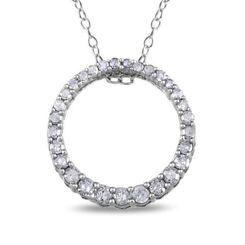 Anhänger 'Lebenskreis' aus Silber und Diamanten
