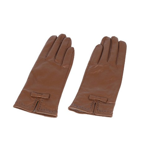 Skórzane rękawiczki w kolorze brązowym