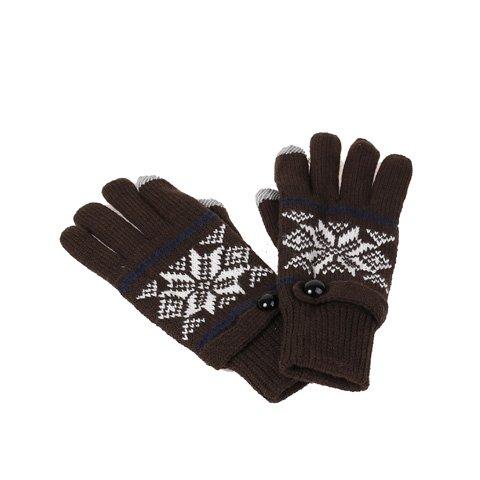 """Brązowe wełniane rękawiczki """"Touch Screen"""""""