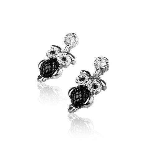Ohrringe mit Swarovski-Kristallen - Eulen