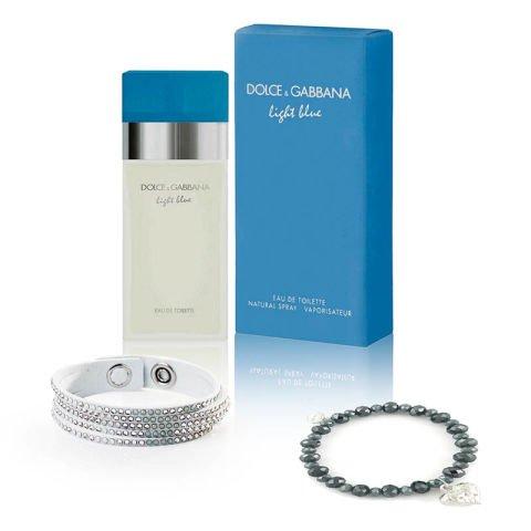 "Zestaw ""Blask"" - biżuteria i perfumy D&G"