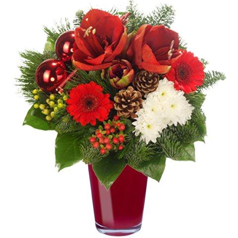 Prost zum neuen Jahr!: Lilien und Tannenzapfen