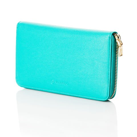 Green purse for a successful woman