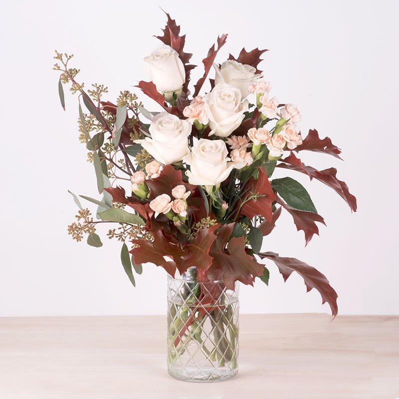 Fragancia de Otoño: rosas y mini claveles