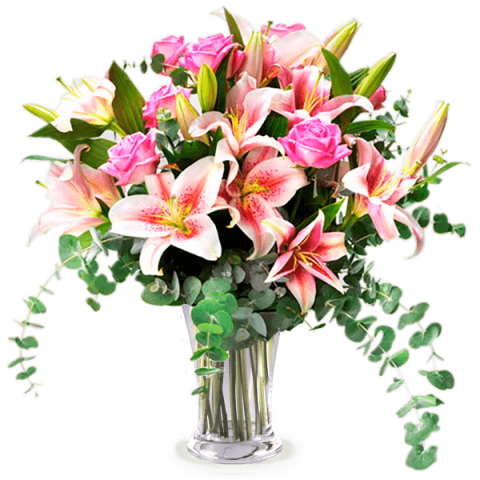 Fraîcheur Subtile : Roses et Lys