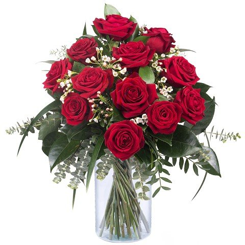 Amour Infini : 12 Roses Rouges