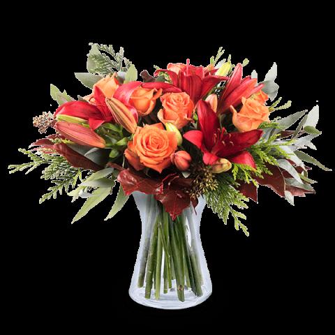 Splendeur Automnale : Lys et Roses
