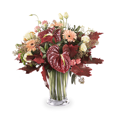 Walk In Central Park: Gerberas and Carnations
