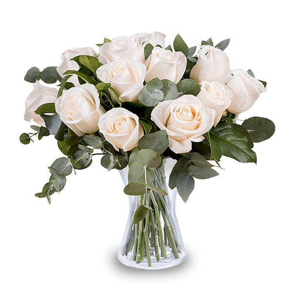 envoyer un bouquet de roses blanches floraqueen. Black Bedroom Furniture Sets. Home Design Ideas