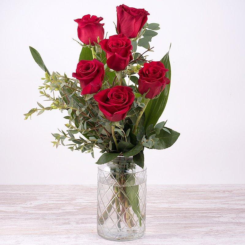 Díselo con Rosas - 6 rosas rojas