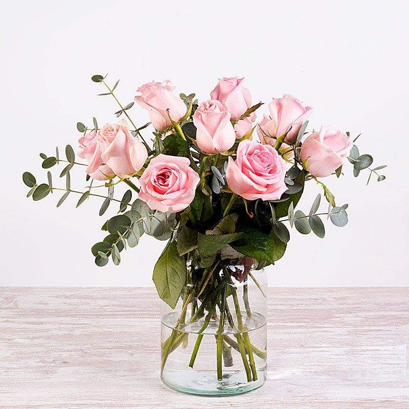 Zucchero filato - 12 rose rosa