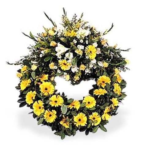 Yellow Remembrance Wreath