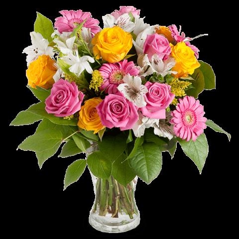 envoyer un bouquet de roses et gerberas floraqueen. Black Bedroom Furniture Sets. Home Design Ideas