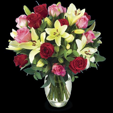Miłosny Koktajl: Róże i Lilie
