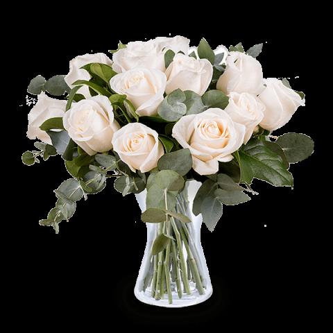 Bukiet na Specjalną Okazję: 12 białych róż