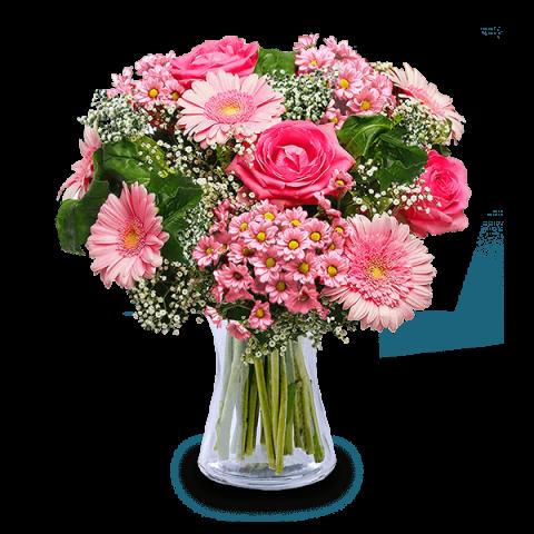 Sourire Sincère : Roses et Gerberas