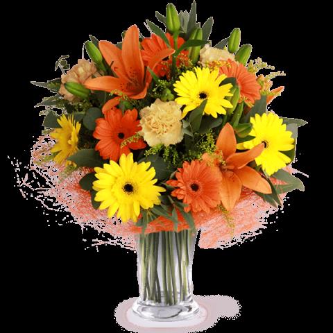 Poranny Uśmiech: lilie i gerbery