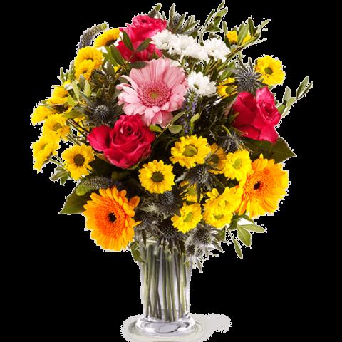 Sorriso a colori: Rose e Gerbere