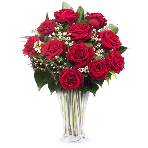 Amour et Tradition : 11 roses rouges
