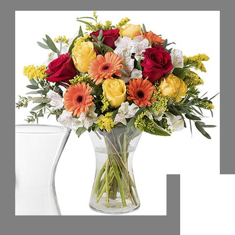Florale Energie: Gemischte Orange Blumen