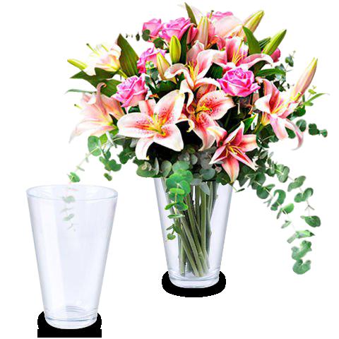 Sentimientos Vibrantes: lirios y rosas